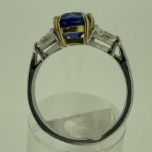 18k white and yellow gold Tanzanite 2.01 carat Dia .50